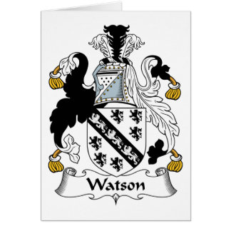 Escudo de la familia de Watson Tarjeton