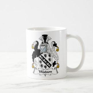 Escudo de la familia de Watson Taza Básica Blanca