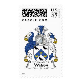 Escudo de la familia de Watson Timbre Postal