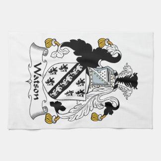 Escudo de la familia de Watson Toallas De Mano