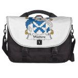 Escudo de la familia de Watters Bolsa Para Ordenador