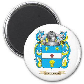 Escudo de la familia de Wauchope (escudo de armas) Imán Redondo 5 Cm