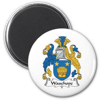 Escudo de la familia de Wauchope Imán Redondo 5 Cm