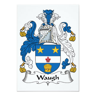 """Escudo de la familia de Waugh Invitación 5"""" X 7"""""""