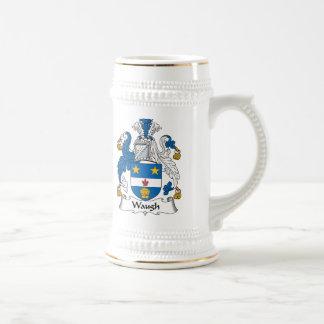 Escudo de la familia de Waugh Tazas De Café