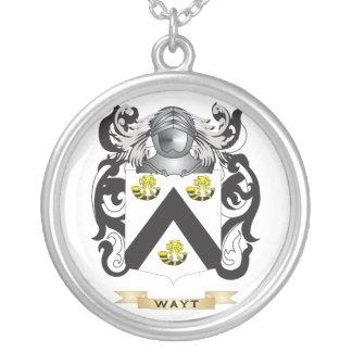 Escudo de la familia de Wayt (escudo de armas) Colgante Redondo