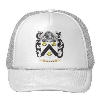 Escudo de la familia de Wayt (escudo de armas) Gorras
