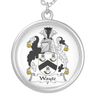 Escudo de la familia de Wayte Colgante Redondo