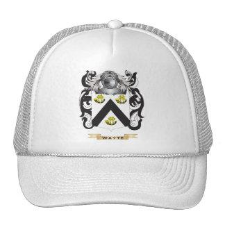 Escudo de la familia de Wayte (escudo de armas) Gorro