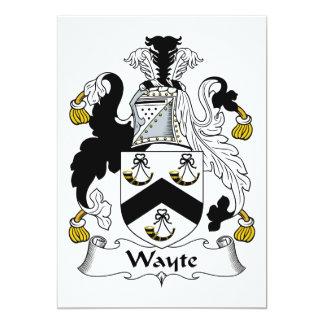 """Escudo de la familia de Wayte Invitación 5"""" X 7"""""""