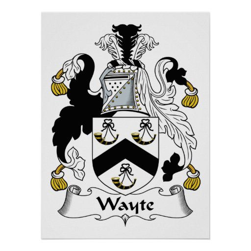 Escudo de la familia de Wayte Poster