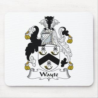 Escudo de la familia de Wayte Alfombrilla De Ratón
