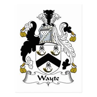 Escudo de la familia de Wayte Postal