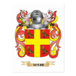 Escudo de la familia de Webb (escudo de armas) Tarjeta Postal
