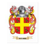 Escudo de la familia de Webbe (escudo de armas) Tarjeta Postal