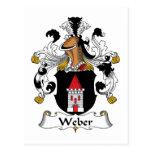 Escudo de la familia de Weber Tarjetas Postales