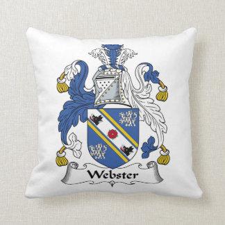 Escudo de la familia de Webster Almohadas