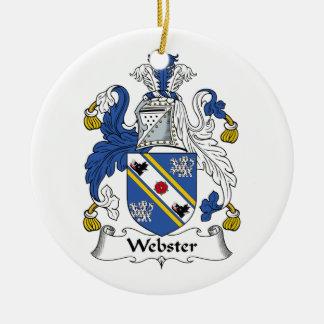 Escudo de la familia de Webster Ornamento Para Arbol De Navidad