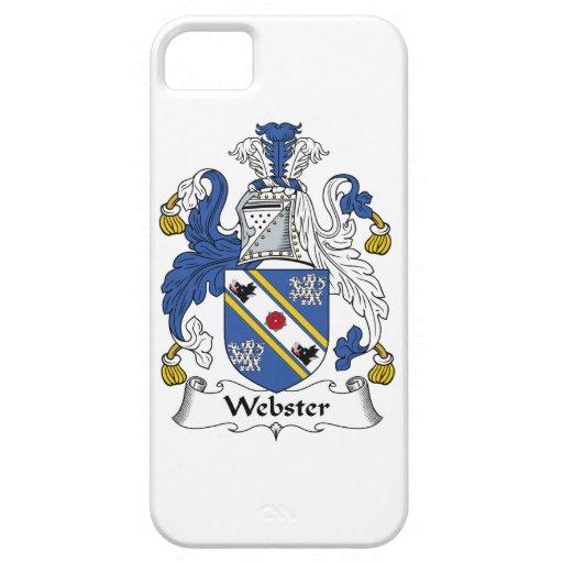 Escudo de la familia de Webster iPhone 5 Case-Mate Cárcasa