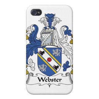 Escudo de la familia de Webster iPhone 4 Coberturas