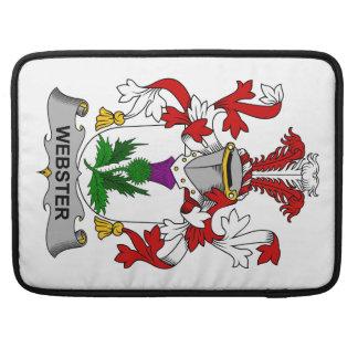 Escudo de la familia de Webster Funda Macbook Pro