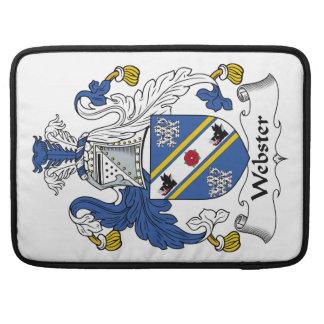 Escudo de la familia de Webster Fundas Macbook Pro