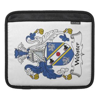 Escudo de la familia de Webster Fundas Para iPads