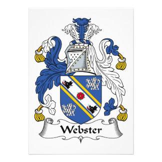 Escudo de la familia de Webster Anuncio Personalizado