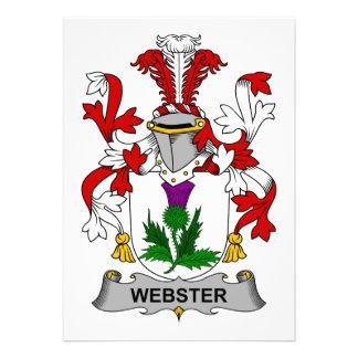Escudo de la familia de Webster Invitaciones Personales