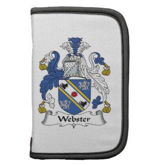 Escudo de la familia de Webster Planificadores