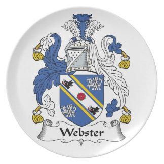 Escudo de la familia de Webster Plato De Cena