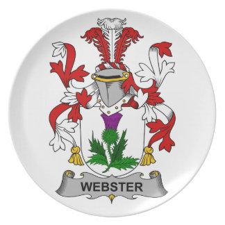 Escudo de la familia de Webster Platos De Comidas
