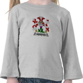 Escudo de la familia de Webster Camisetas