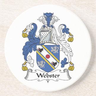 Escudo de la familia de Webster Posavasos Personalizados