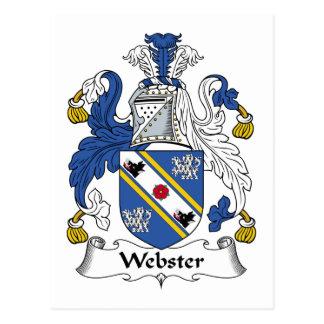 Escudo de la familia de Webster Postales