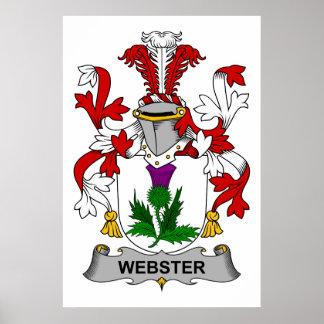 Escudo de la familia de Webster Poster
