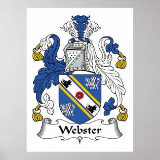 Escudo de la familia de Webster Posters