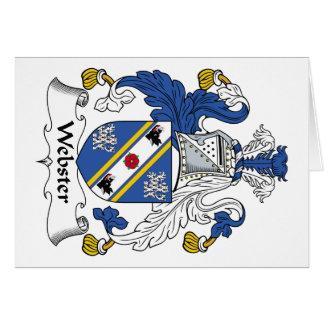 Escudo de la familia de Webster Tarjeta