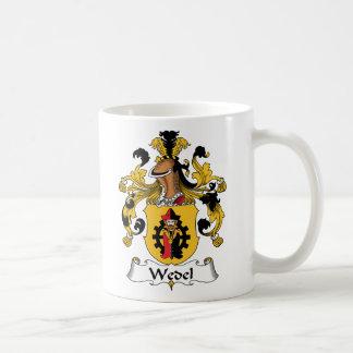 Escudo de la familia de Wedel Taza Básica Blanca