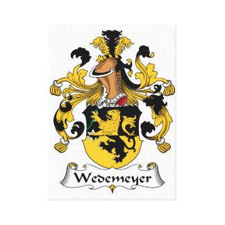Escudo de la familia de Wedemeyer Lona Envuelta Para Galerías