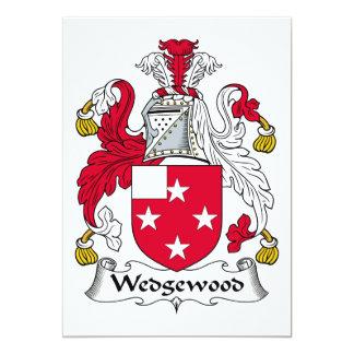 Escudo de la familia de Wedgewood Invitacion Personal