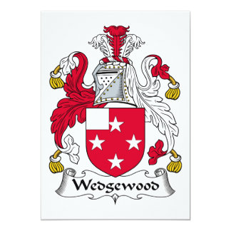 """Escudo de la familia de Wedgewood Invitación 5"""" X 7"""""""
