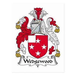 Escudo de la familia de Wedgewood Postales