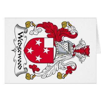 Escudo de la familia de Wedgewood Tarjeta De Felicitación