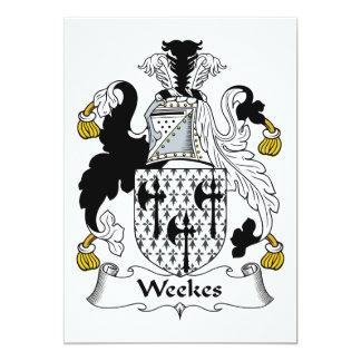 Escudo de la familia de Weekes Comunicado