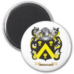 Escudo de la familia de Weekley (escudo de armas) Imán De Frigorifico
