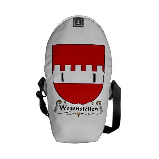 Escudo de la familia de Wegenstetten Bolsas Messenger