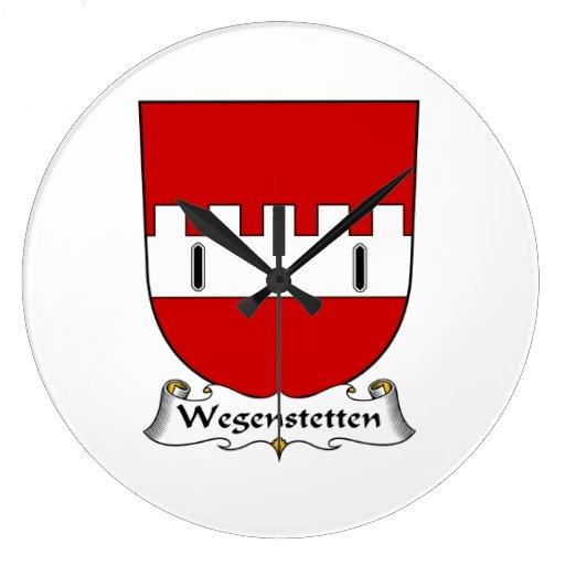 Escudo de la familia de Wegenstetten Reloj Redondo Grande