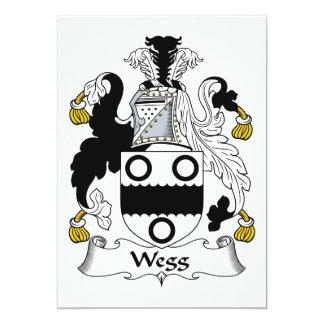 Escudo de la familia de Wegg Invitación Personalizada