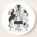 Escudo de la familia de Wegg Posavasos Personalizados